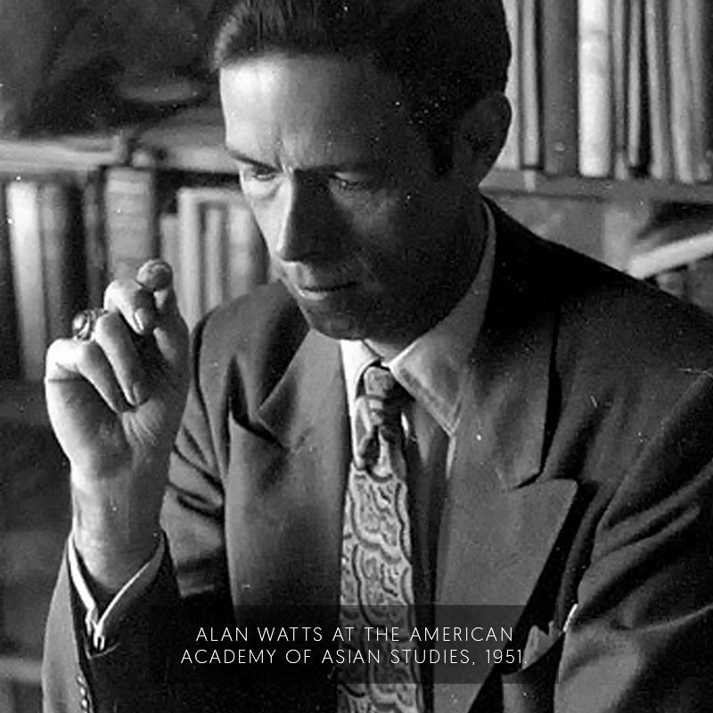 Alan Watts at the American Academy of Asian Studies. (1951)
